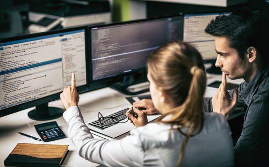 Multiple computer monitors